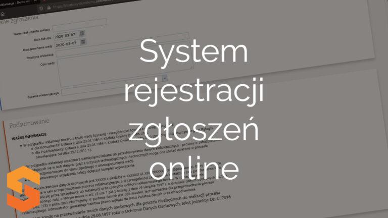 System rejestracji zgłoszeń online